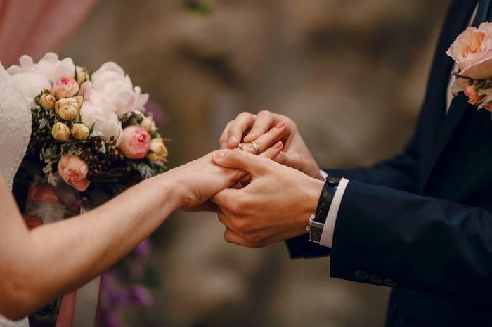Ilustrasi pesta pernikahan.