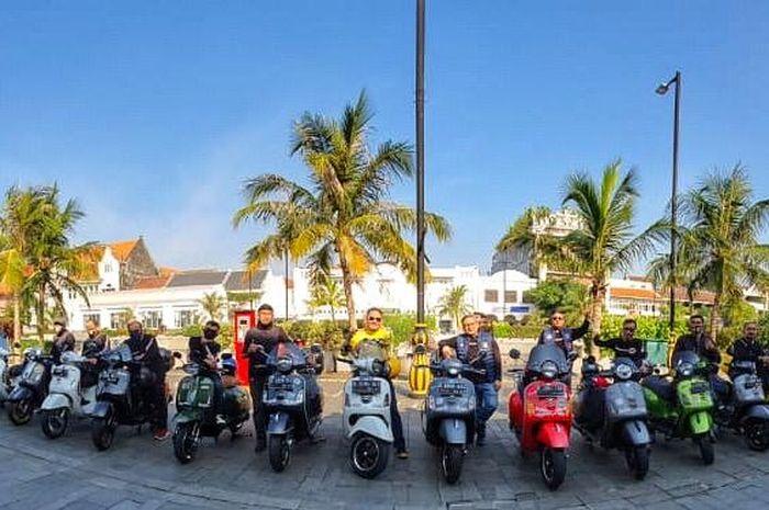 Komunitas motor General Team Vespa Society (GTVS) Indonesia gelar silaturahmi di masa transisi PSBB.
