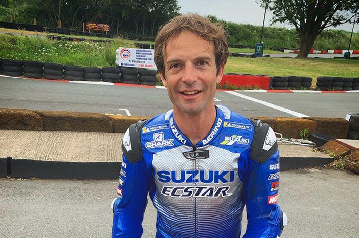 Sylvain Guintoli ogah dibilang gabut langsung jalani sesi pengetesan motor MotoGP Suzuki di sirkuit Misano sekaligus bantu persiapan Alex Rins dan Joan Mir musim ini