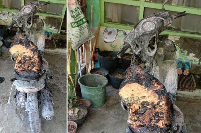 Motor matic injeksi terbakar di Yogyakarta