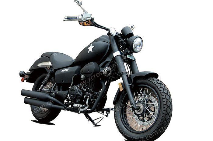 Penampakan motor baru Chongqing XCR 250R, mirip banget sama Harley-Davidson.