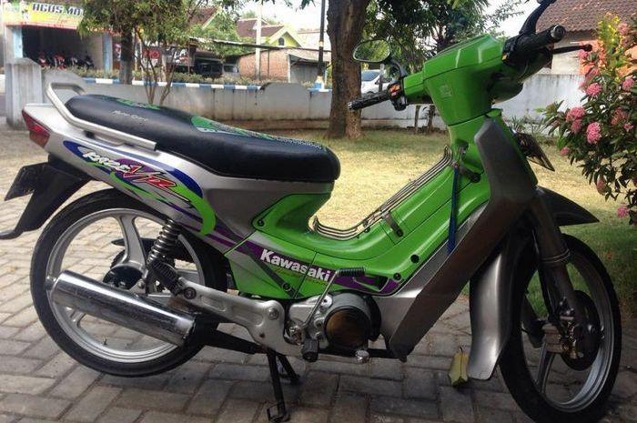 Kaze warna hijau meski merek Kawasaki tapi kurang diminati di zamannya