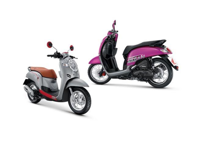 Honda Scoopy versi Thailand ada pilihan pelek jari-jari berdiameter 14 inci