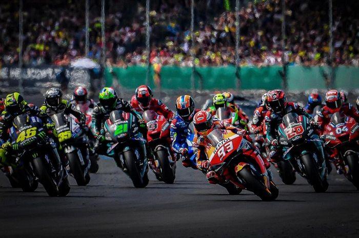Ilustrasi balapan MotoGP. Jadwal baru MotoGP 2020 sudah keluar, ini susunan pembalapnya.