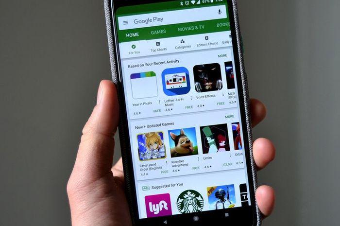 Ilustrasi aplikasi HP Android
