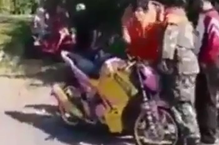 Viral! Video Pemotor Yamaha V-Ixion Berteriak Histeris Saat Diberhentikan Polisi, Gak Taunya Begini