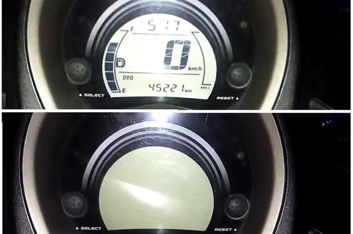 Penel spidometer Yamaha NMAX milik Ahmad Setiawan genit kedip-kedip ketika kunci kontak ON