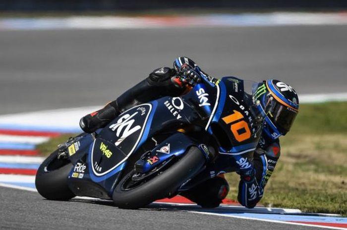 Hasil FP1 Moto2 Teruel 2020, Luca Marini tancap gas kejar tercepat, pembalap Indonesia Andi Gilang nyaris finish terakhir.