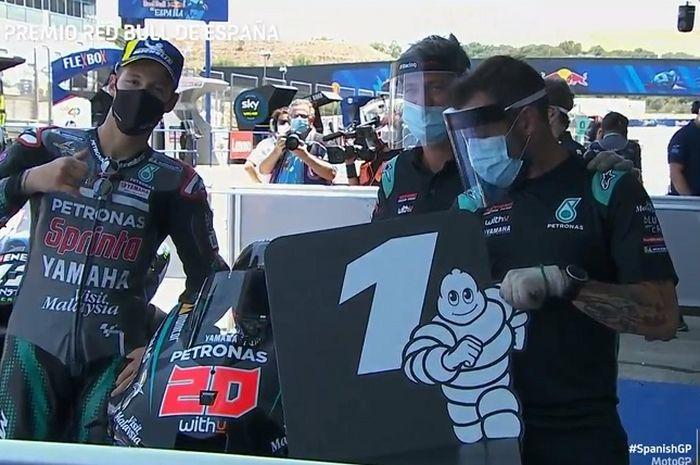 Fabio Quartararo tercepat di sesi kualifikasi MotoGP Spanyol 2020