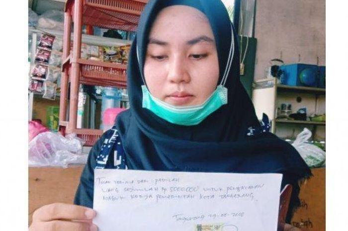 Fadilah (22) Mahasiswi cantik yang tertertipu senilai Honda Vario 150 terbaru oleh oknum PNS Pemkot Tangerang