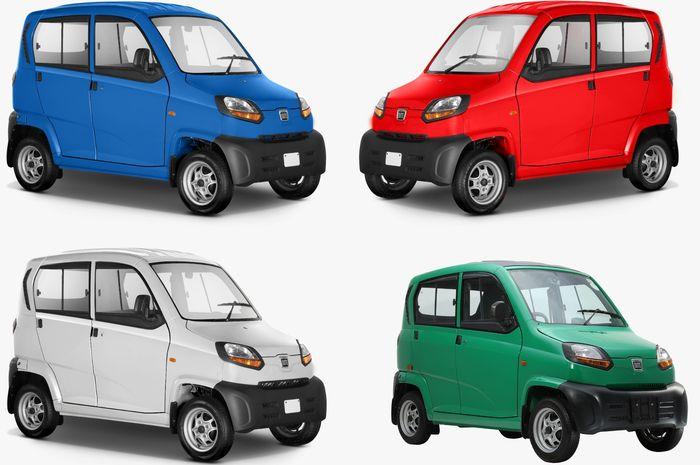 Kendaraan simpel Bajaj Qute muat 4 orang