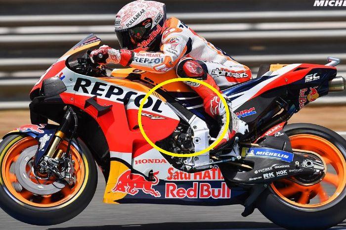 Pembalap Repsol Honda, Marc Marquez diam-diam menggunakan sasis baru di MotoGP Jerez 2020.