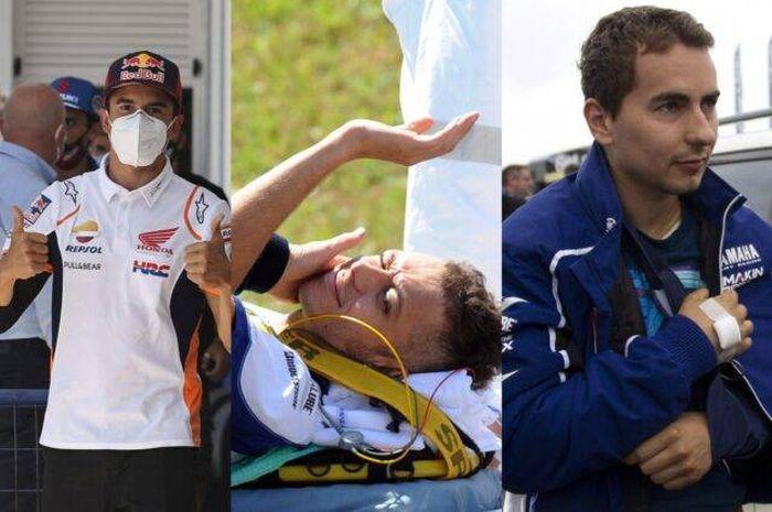 Marc Marquez bukanlah pembalap MotoGP pertama dengan masa pemulihan yang sangat cepat dari cedera.