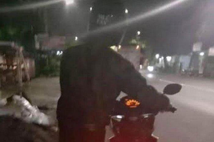 Kenalan sama cowok di aplikasi MiChat, motor cewek ini dibawa kabur, ini foto pelaku sebelum kabur