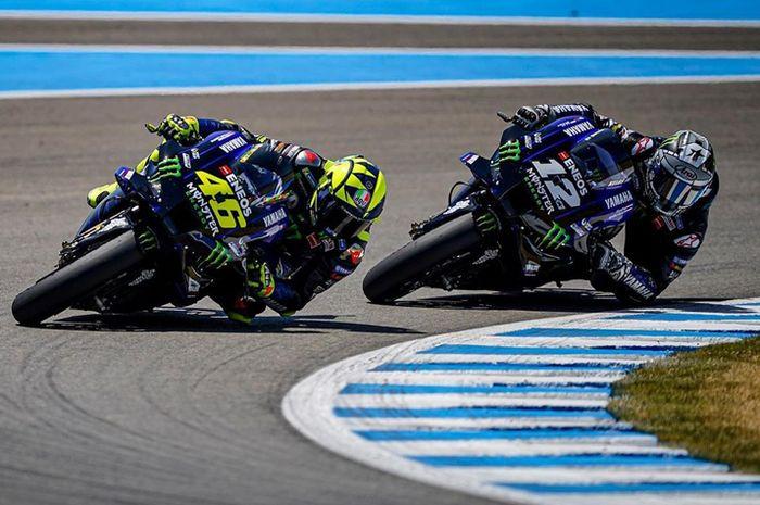 Valentino Rossi dan Maverick Vinales di MotoGP 2020