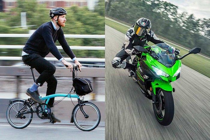 Ilustrasi sepeda Brompton. Orang Indonesia borong sepeda Brompton seharga Kawasaki Ninja 250 di luar negeri, toko sepeda di Jerman sampai tutup.