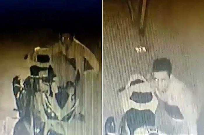 Terekam CCTV maling motor Honda CBR150 beraksi di Bekasi