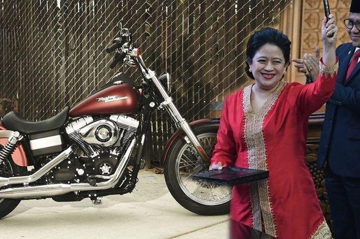 Ilustrasi motor dan Puan Maharani
