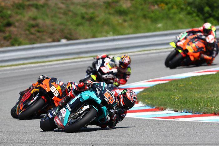 Jelang MotoGP Austria 2020, pembalap Petronas Yamaha SRT, Fabio Quartararo mewaspadai performa pembalap-pembalap dari KTM.