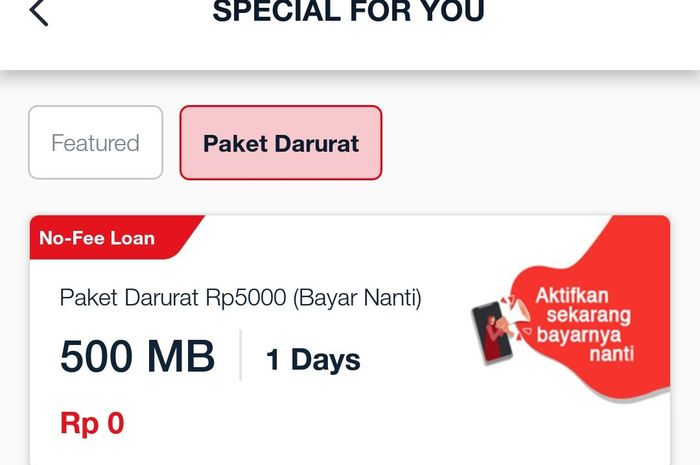 Ternyata Telkomsel menawarkan kepada pelanggannya untuk membeli paket data internet tanpa perlu ada pulsa.