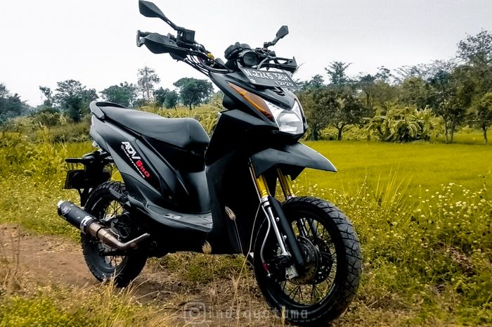 Mini ADV, modifikasi Honda BeAT bergaya adventure