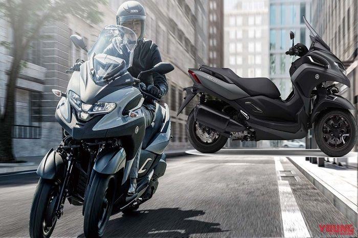Motor baru Yamaha XMAX pakai 3 roda dan segudang fitur meluncur sebentar lagi.