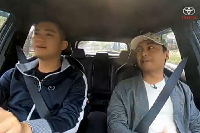 Boy William dan Raditya Dika menjajal Toyota Corolla Cross