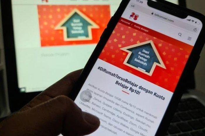 Horee Subsidi Kuota Gratis 50 Gb Dari Telkomsel Internet Murah Meriah 10 Gb Cuma Rp 10 Belajar Online Makin Asyik Semua Halaman Gridmotor Id