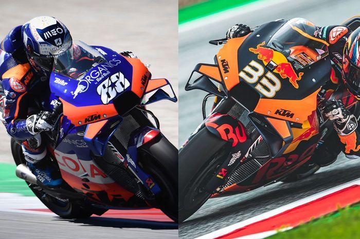 Dua pembalap MotoGP Miguel Oliveira dan Brad Binder berasal dari negara berbeda  dan benua berbeda, tapi banyak kesamaannya mulai dari Moto3, Moto2 hingga MotoGP di antaranya sama-sama besar dan bareng di KTM