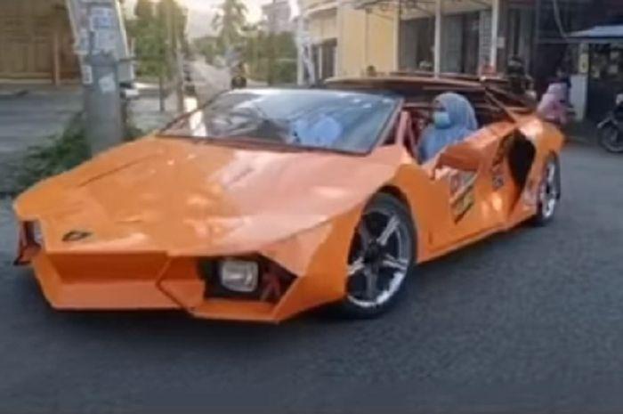 Lamborghini mobil mahal ternyata ada versi murahnya, ternyata supercar ini pakai mesin motor Yamaha V-Ixion.