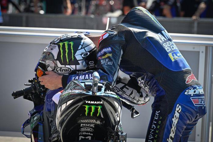 Cuma bisa finis ke-6 di MotoGP San Marino 2020, pembalap Monster Energy Yamaha, Maverick Vinales sebut ada yang salah dengan motornya.