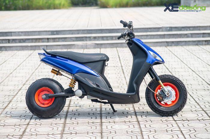 Modifikasi Yamaha Mio jadi motor listrik
