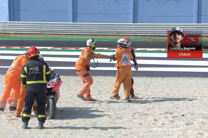 Francesco Bagnia alami crash
