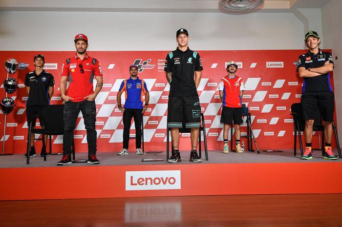 Ilustrasi. Gak ada Valentino Rossi di konferensi pers MotoGP Catalunya 2020, Kamis (24/9/2020) gara-gara DNF dan gak finis 4 besar di MotoGP Emiia Romagna pekan lalu.
