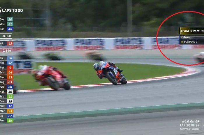 Kode Mapping 2 pada motor Valentino Rossi, apa maksudnya ya?