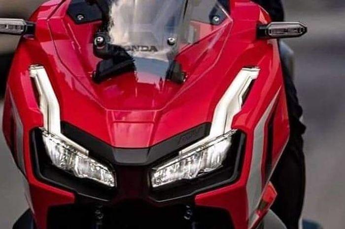 Tampak depan All New Honda ADV350. All New Honda ADV350 Dikabarkan Segera Meluncur, Body Lebih Gagah dan Macho dari Versi 150