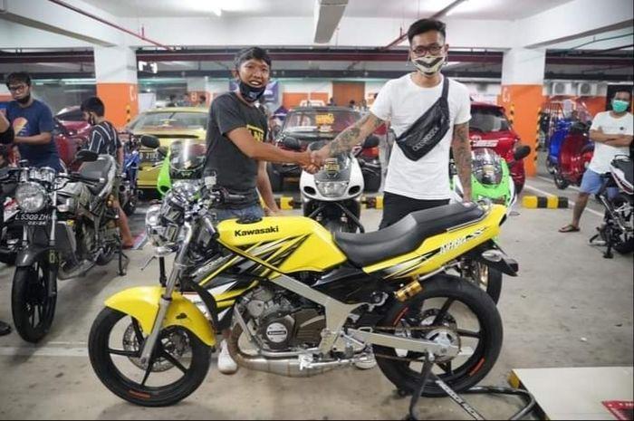 Gokil! Kawasaki Ninja SS 150 2-tak kondisi kinclong laku ditebus Rp 120 juta,ternyata ini yang bikin mahal.