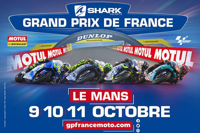 Awas jangan lewat jadwal balapan MotoGP Prancis 2020 di sirkuit MotoGP Le Mans, mulainya pukul 18:00 WIB. Catat baik-baik