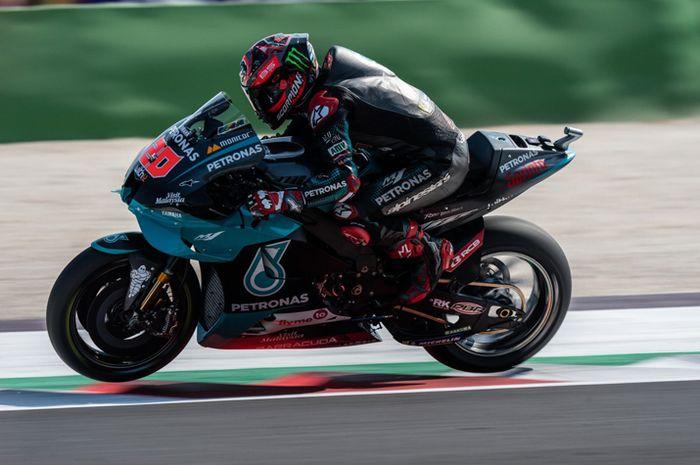 Fabio Quartararo. Hasil Kualifikasi MotoGP Aragon 2020, Fabio Quartararo Melesat, Adik Marc Marquez Urutan Segini
