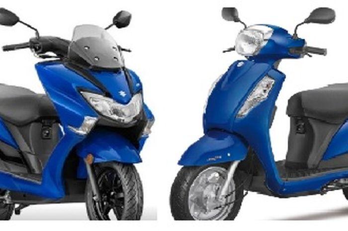 Mulai Rp15 jutaan 2 motor matic baru Suzuki, punya fitur android jadi saingan Honda BeAT dan Yamaha NMAX?