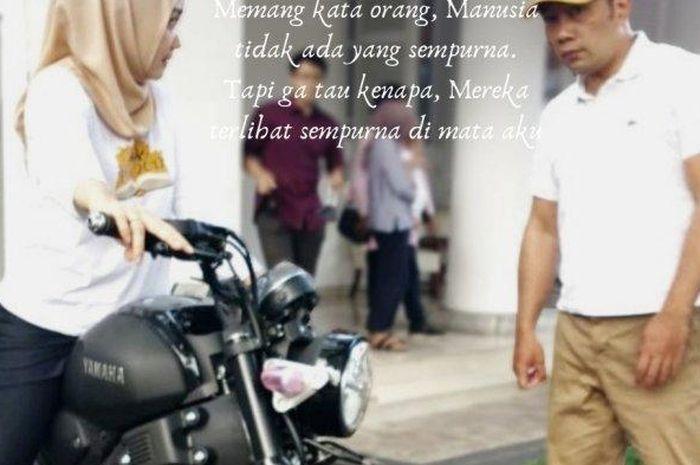 Kepergok sering motoran di Bandung, istri Gubernur Jawa Barat, Atalya Praratya langsung beli motor sport Yamaha XSR 155.