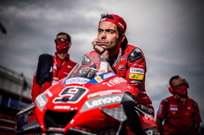 Muka sangar Danilo Petrucci yang juara MotoGP Prancis 2020 langsung meleleh saat menerima telepon dari ibunya
