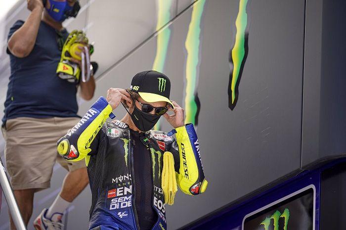 Ilustrasi. Valentino Rossi positif Covid-19 jelang MotoGP Aragon 2020.