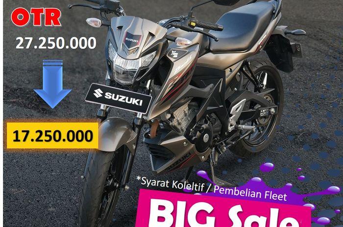 Diskon Rp 10 Jutaan! Motor Baru Suzuki kasih harga spesial bro buruan sikat keburu kehabisan stok nih.