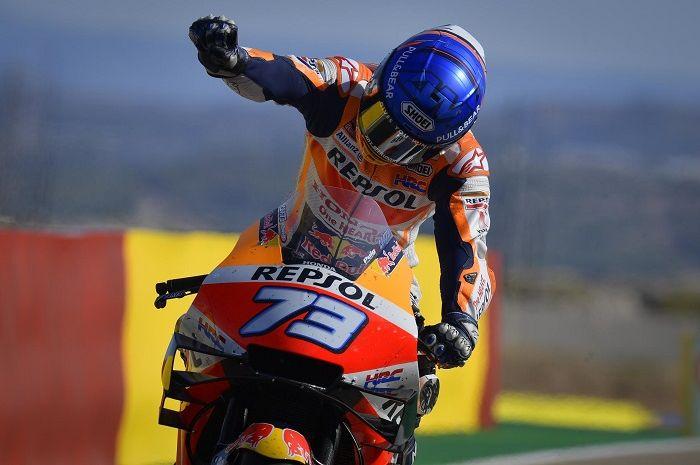 Adik Marc Marquez, Alex Marquez umbar rahasia podium di MotoGP Aragon 2020.
