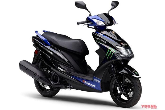 Saudara Yamaha Mio, yakni Yamaha Cygnus-X dapat livery ala motor MotoGP Valentino Rossi.
