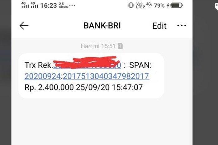 Bingung gak dapat SMS dari BRI, begini cara mengecek apakah terima BLT atau Bantuan Pemerintah Rp 2,4 juta