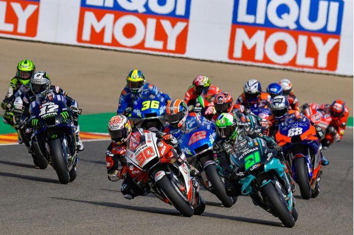 Ini dia 10 fakta MotoGP Teruel 2020, pembalap tim Petronas Yamaha SRT, Franco Morbidelli cetak rekor baru untuk Yamaha di sirkuit Aragon.