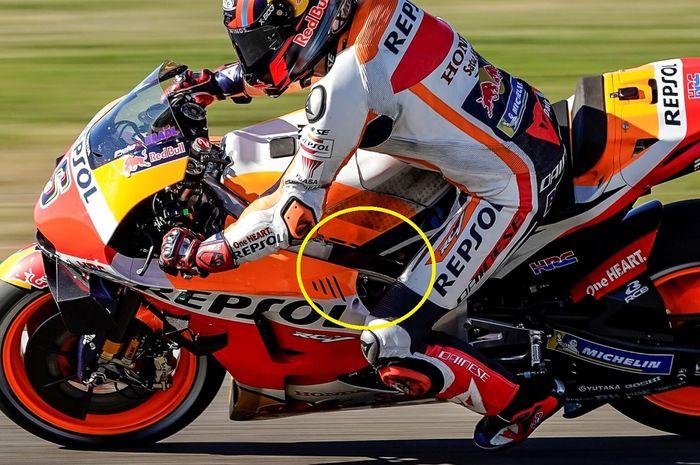 Diam-diam ternyata Honda pakai sasis baru di MotoGP Teruel 2020, akhir pekan lalu di sirkuit Motorland Aragon.