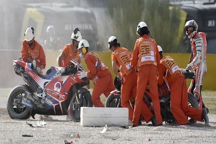 Seruduk Jack Miller di MotoGP Teruel 2020, Brad Binder bakal dihukum begini.
